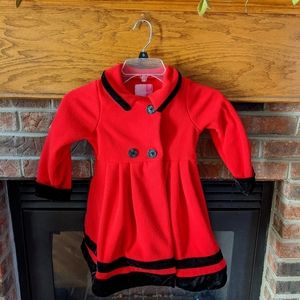 Goodlad red fleece coat girls size 4